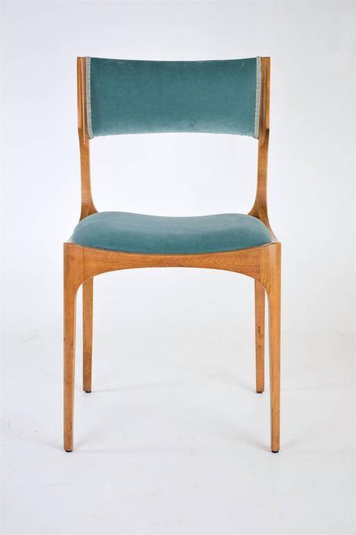 Mid-Century Giuseppe Gibelli Dining Chairs, Set of Six 1