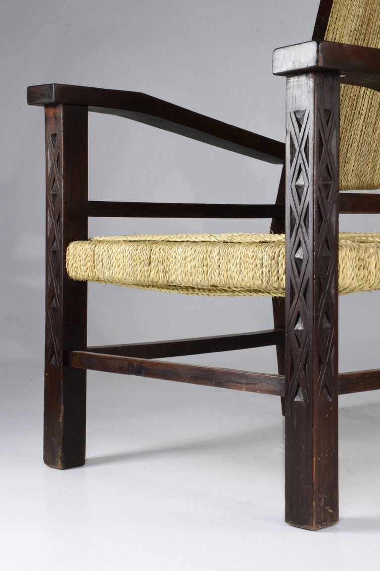French Pair of Art Deco Armchairs by Francis Jourdain, 1930's  For Sale 3