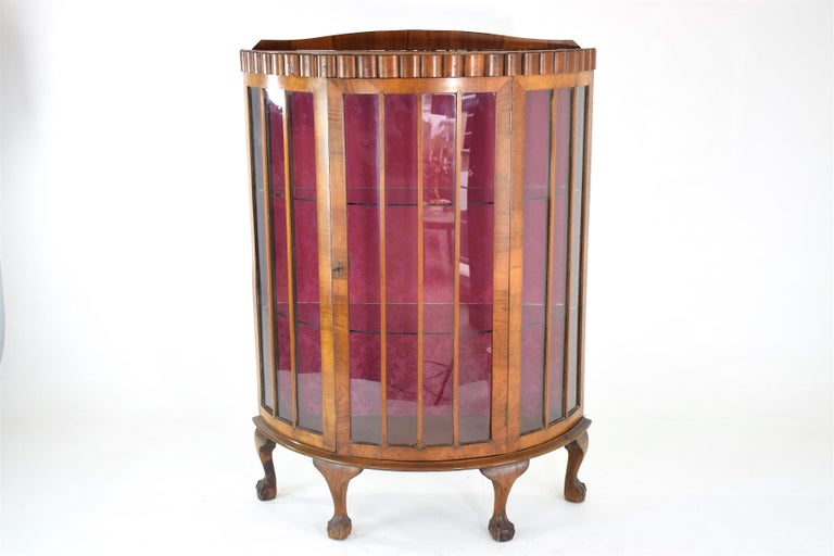 20t Century French Art Deco Circular Display Cabinet or Vitrine, 1930's  In Good Condition For Sale In Paris, FR
