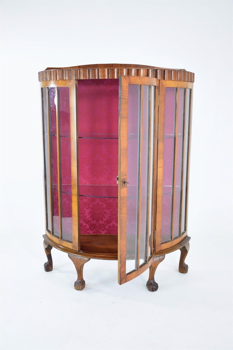 20th Century  20t Century French Art Deco Circular Display Cabinet or Vitrine, 1930's  For Sale