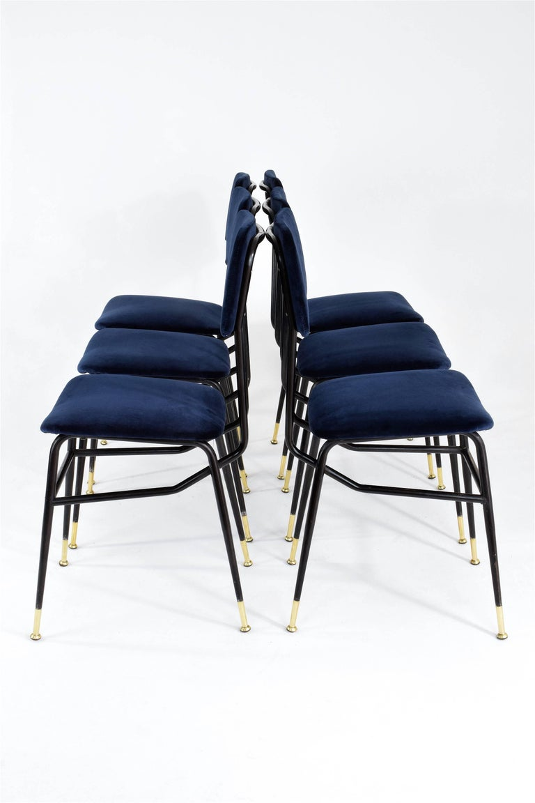 Italian Vintage Mid-Century Dining Chairs by Studio BBPR, 1950's, Set of 6  2
