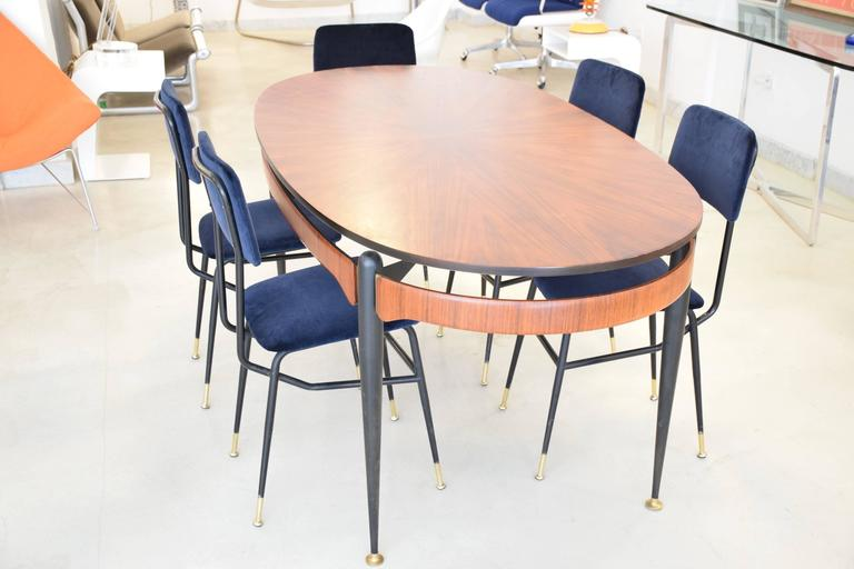 Mid Century Modern Oval Dining Table 1500 Trend Home Design
