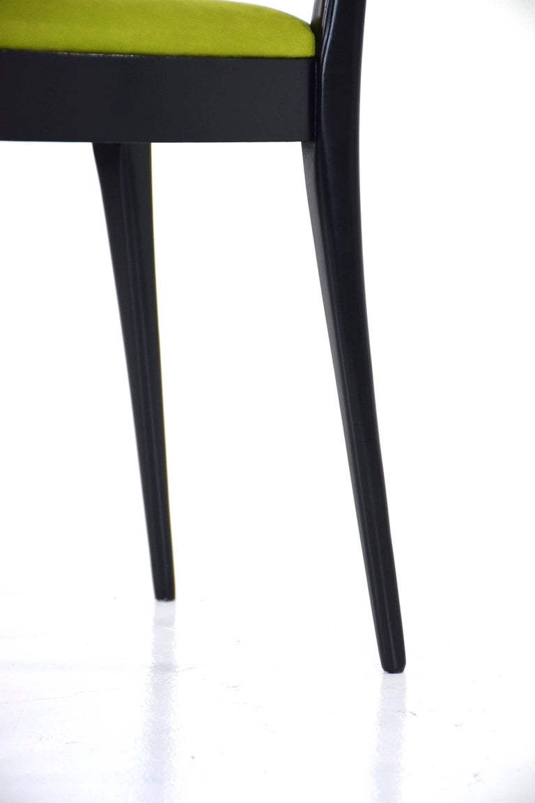 Italian Midcentury Dining Chairs, Set of 6, 1950s For Sale 7