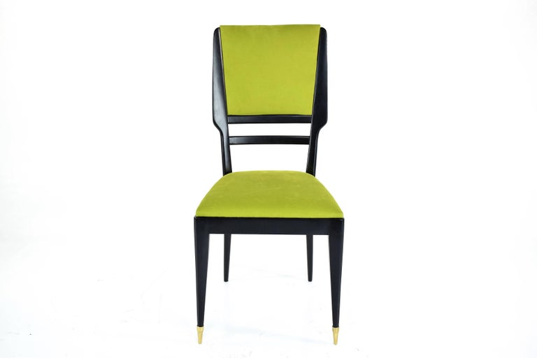 20th Century Italian Midcentury Dining Chairs, Set of 6, 1950s For Sale