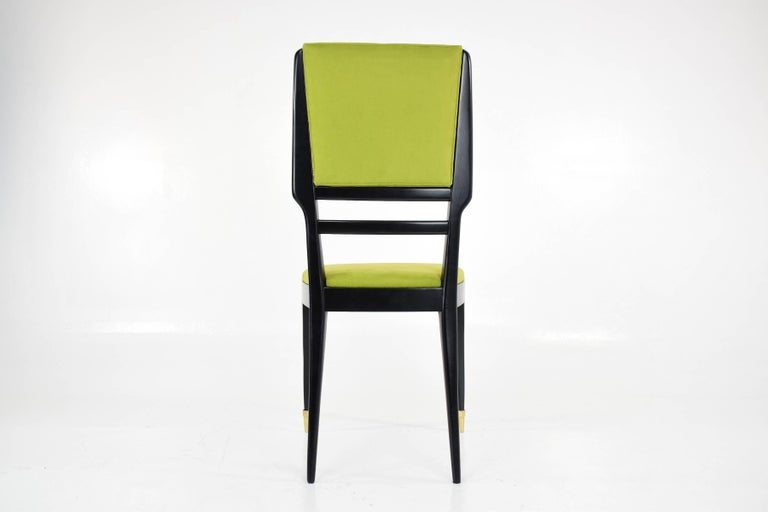 Italian Midcentury Dining Chairs, Set of 6, 1950s For Sale 3