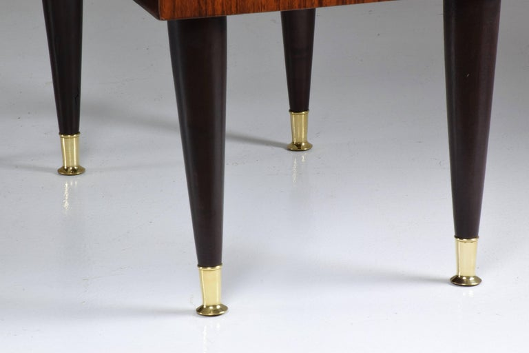 Pair of Italian Midcentury Nightstands In the Manner of Gio Ponti, 1950-1960  For Sale 1