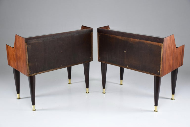 Italian Midcentury Nightstands In the Manner of Gio Ponti, 1950-1960  For Sale 4