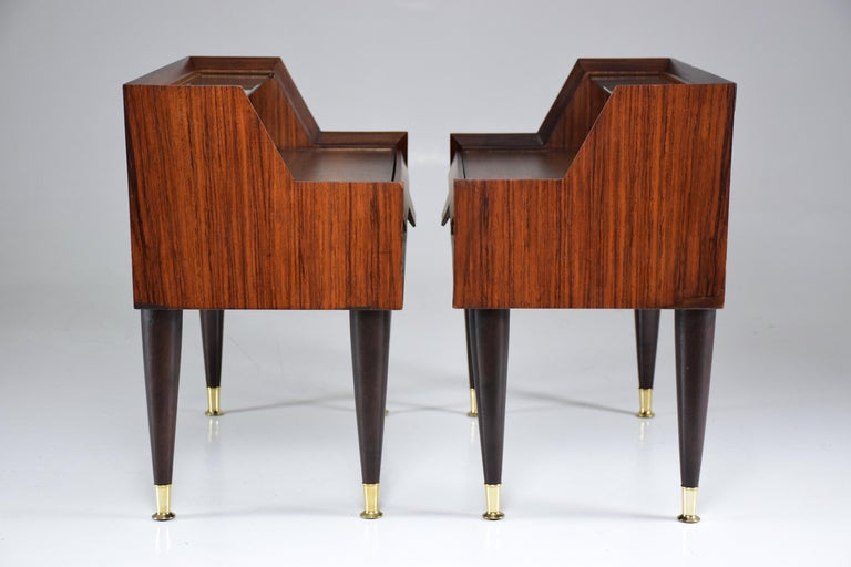 Italian Midcentury Nightstands In the Manner of Gio Ponti, 1950-1960  For Sale 5
