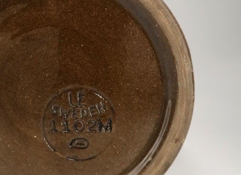 Rare Set of Swedish Mid-Century Upsala-Ekeby Ceramic Cream, Brown Vases, 1960s For Sale 4
