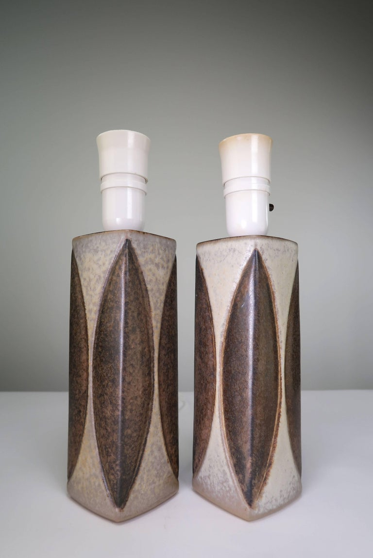 Mid-Century Modern Marianne Starck for Michael Andersen Sculptural Set of Lamps and Vase, 1950s For Sale