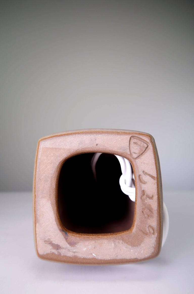 Stoneware Marianne Starck for Michael Andersen Sculptural Set of Lamps and Vase, 1950s For Sale