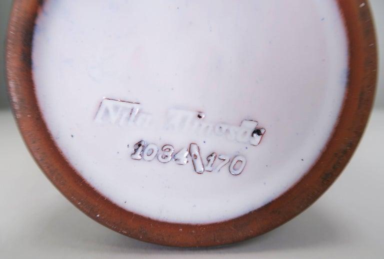 Swedish Nila Midcentury Modern 1960s Handmade Ceramic Gazelle Vase For Sale 1