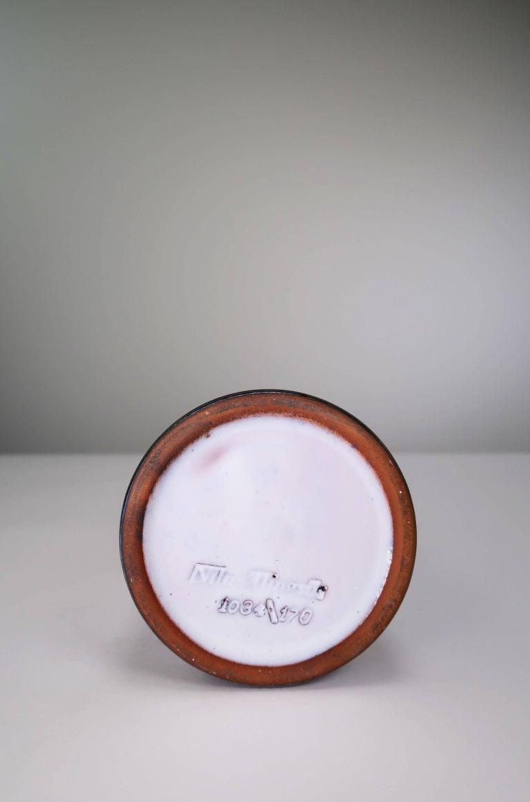 Mid-20th Century Swedish Nila Midcentury Modern 1960s Handmade Ceramic Gazelle Vase For Sale