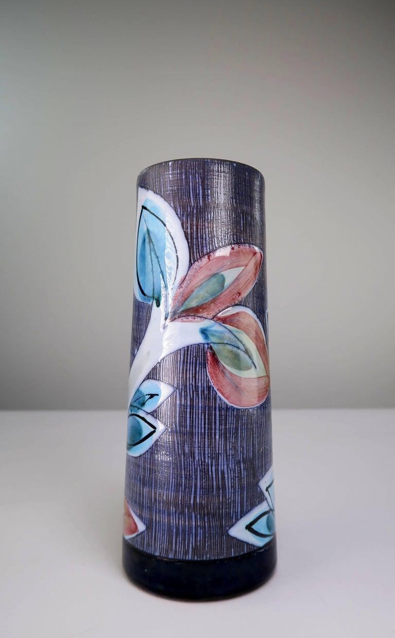 Mid-Century Modern Swedish Nila Midcentury Modern 1960s Handmade Ceramic Gazelle Vase For Sale