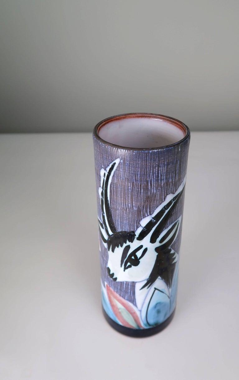 Swedish Nila Midcentury Modern 1960s Handmade Ceramic Gazelle Vase In Excellent Condition For Sale In Frederiksberg, DK