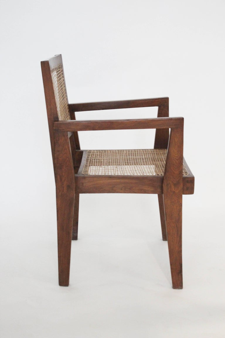 Indian Cane Chairs by Pierre Jeanneret, circa 1950s, Set of Four For Sale
