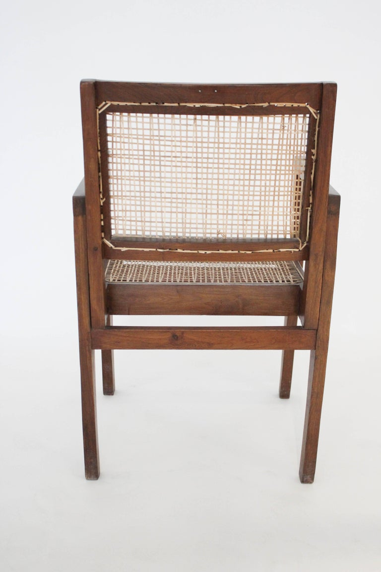 Cane Chairs by Pierre Jeanneret, circa 1950s, Set of Four In Good Condition For Sale In London, GB