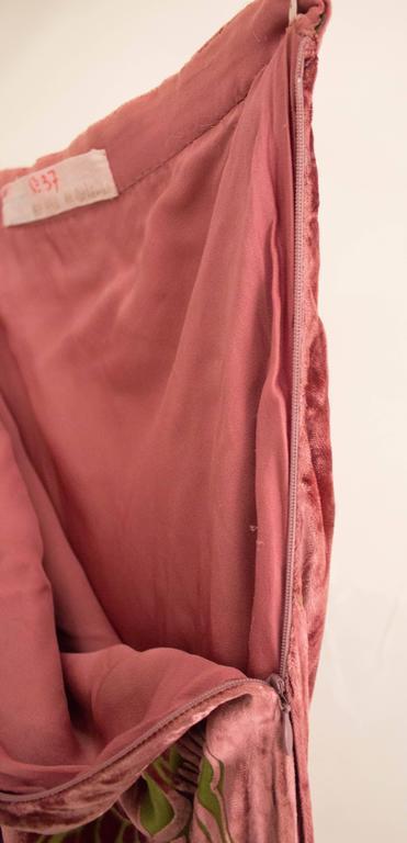 Modern Alexander McQueen for Givenchy Haute Couture 1997 Velvet Skirt For Sale