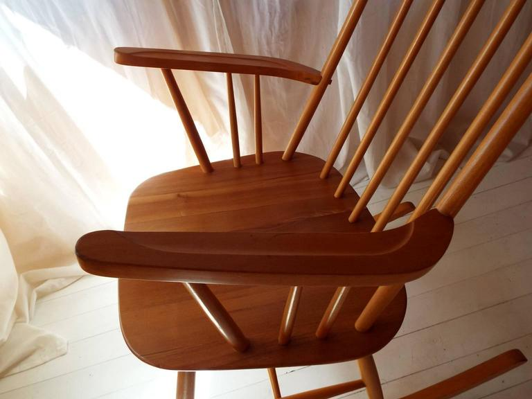 Midcentury Rocking Chair by Austrian Architect Roland Rainer with Beech frame 7