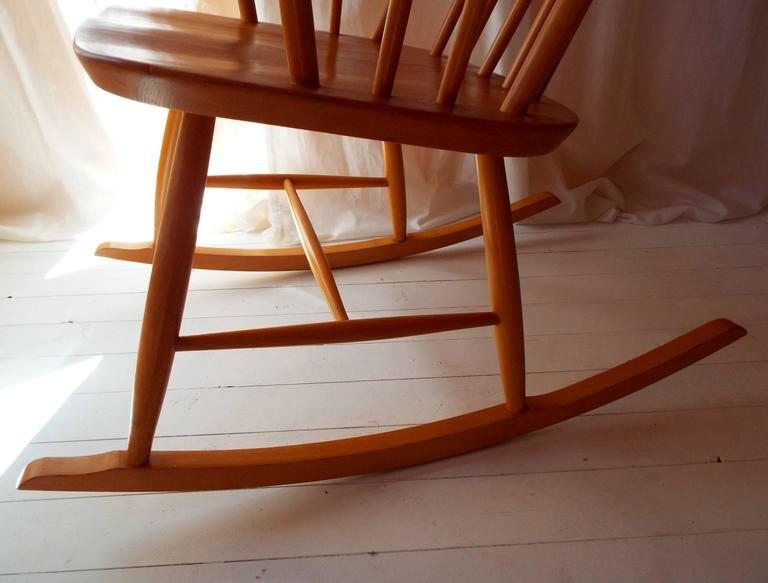 Midcentury Rocking Chair by Austrian Architect Roland Rainer with Beech frame 8