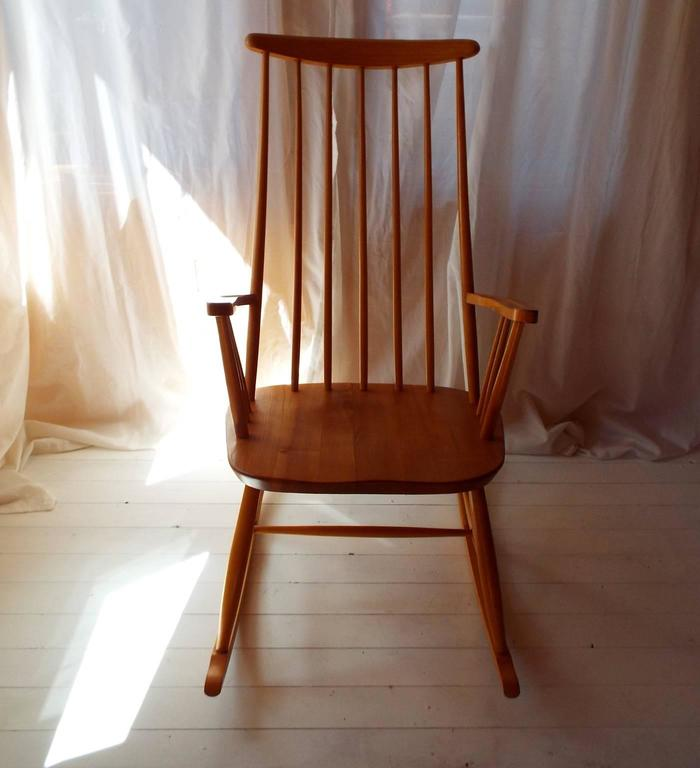Midcentury Rocking Chair by Austrian Architect Roland Rainer with Beech frame 4