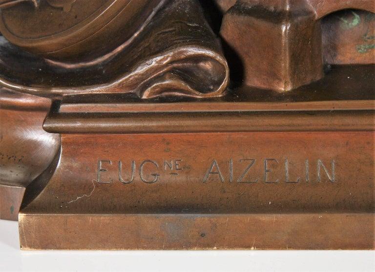 Bronze 19th Century Eugène Aizelin Mignon For Sale