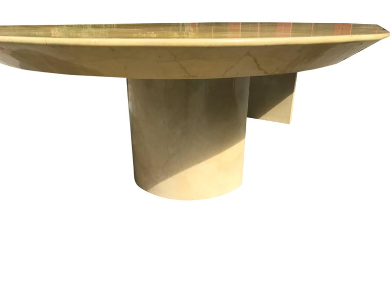 Large Lacquered Goatskin Table by Karl Springer In Excellent Condition For Sale In Stockton, NJ
