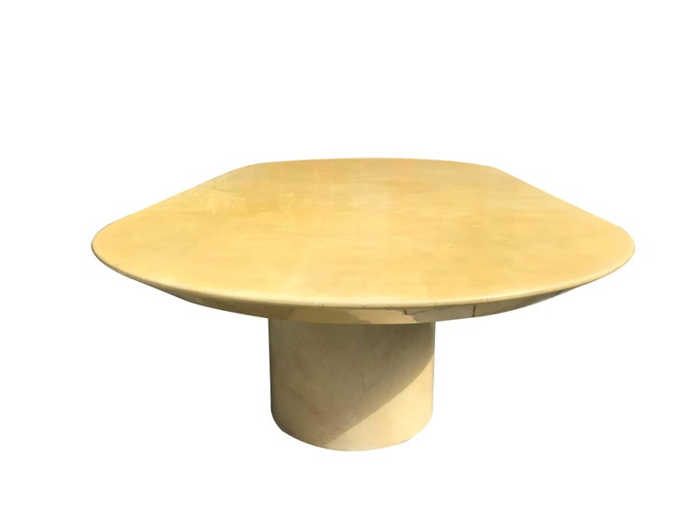 American Large Lacquered Goatskin Table by Karl Springer For Sale