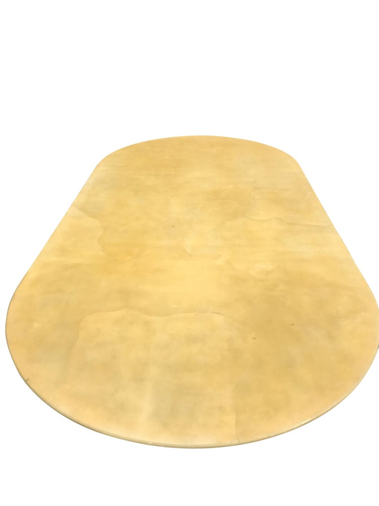 Late 20th Century Large Lacquered Goatskin Table by Karl Springer For Sale