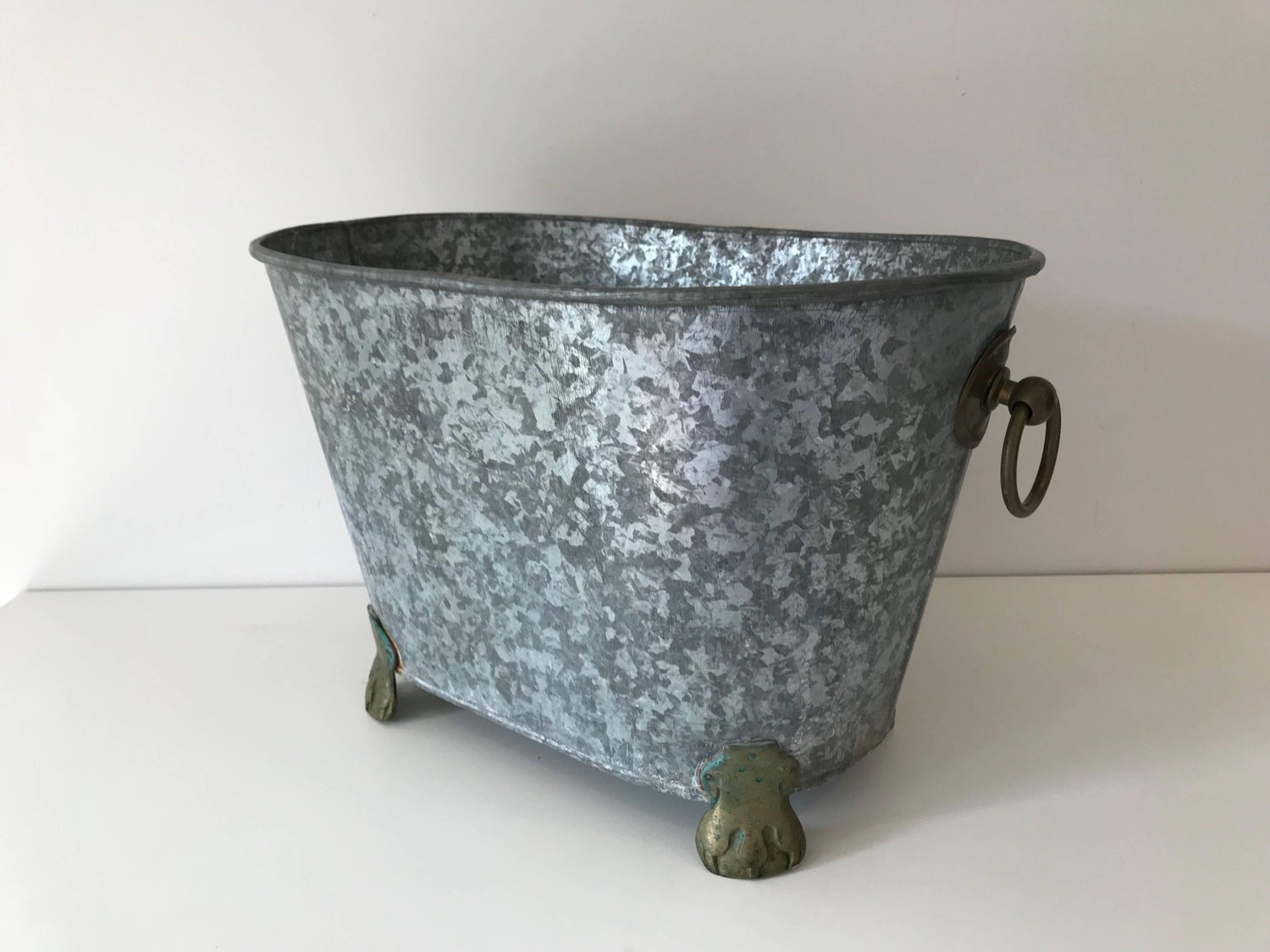 Vintage Regency Zinc Cooler or Ice Bucket For Sale at 1stdibs