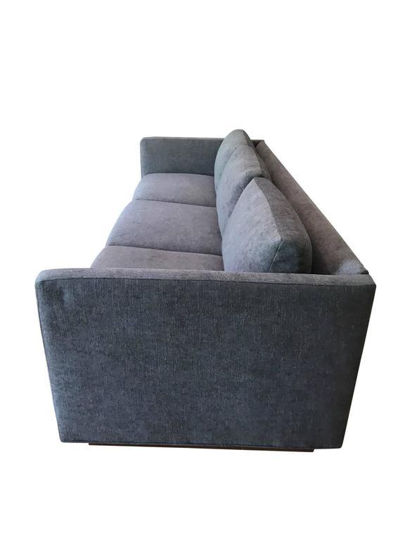 Mid-Century Modern Milo Baughman for Thayer Coggin Tuxedo Sofa For Sale