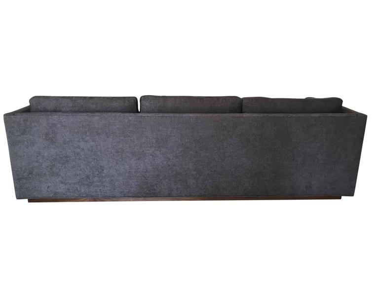 American Milo Baughman for Thayer Coggin Tuxedo Sofa For Sale