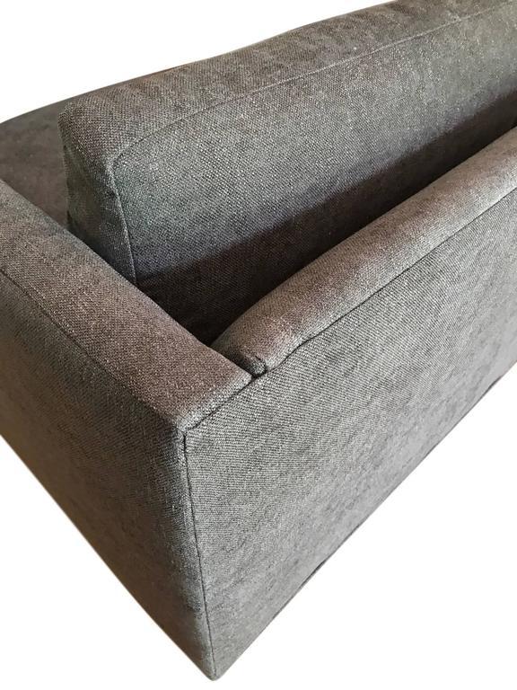 Milo Baughman for Thayer Coggin Tuxedo Sofa In Excellent Condition For Sale In Stockton, NJ