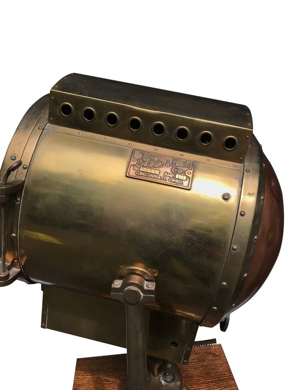 Massive WWII Searchlight by Carlisle & Finch In Excellent Condition For Sale In Stockton, NJ