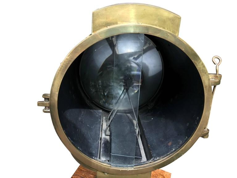 Mid-20th Century Massive WWII Searchlight by Carlisle & Finch For Sale