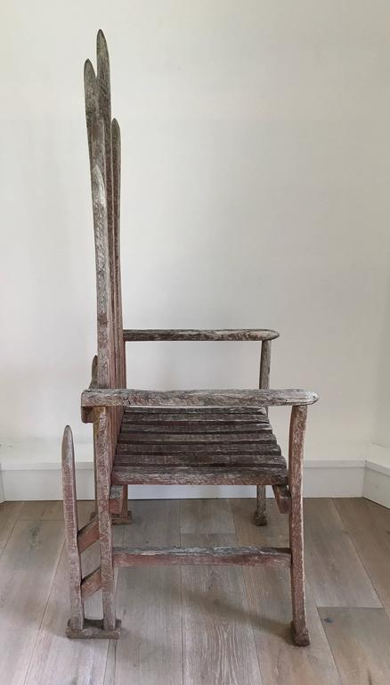 American Folk Art Armchair In Excellent Condition For Sale In Stockton, NJ