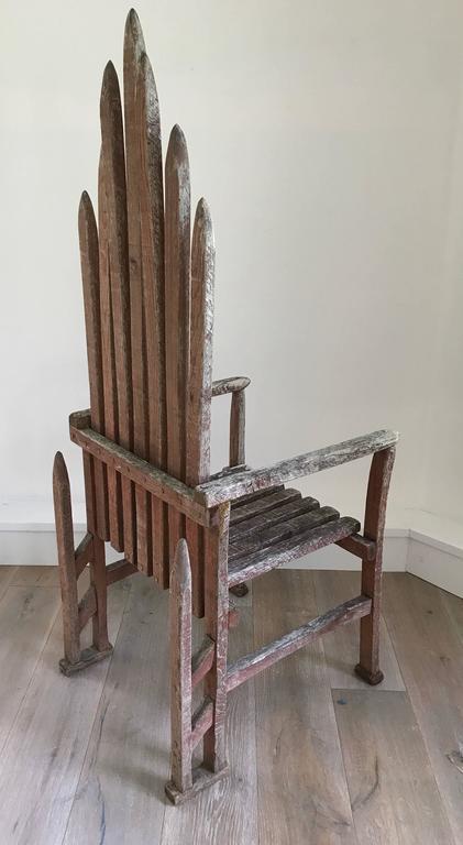 20th Century American Folk Art Armchair For Sale