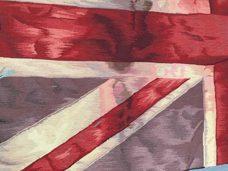 English Limited Edition Vivienne Westwood Union Jack Aubusson Tapestry