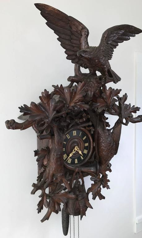Massive 19th Century Black Forest Cuckoo Clock In Excellent Condition In Stockton, NJ