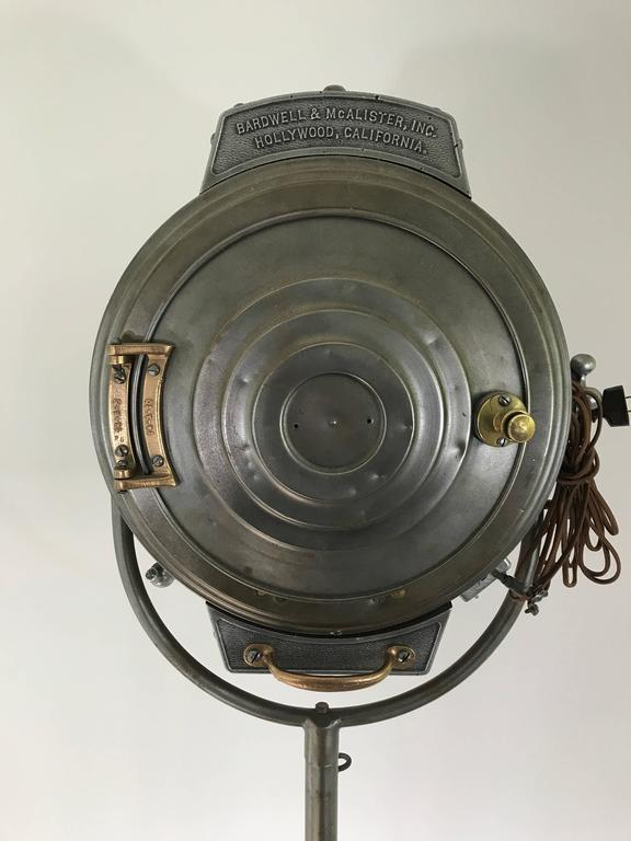 Brass Massive Mid 20th Century Studio Spotlight For Sale
