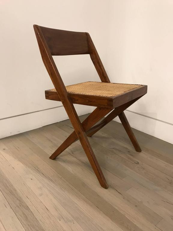 Set of Four Library Chairs by Pierre Jeanneret In Excellent Condition For Sale In Stockton, NJ