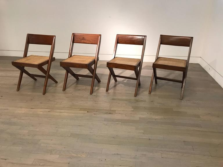 Set of Four Library Chairs by Pierre Jeanneret 2