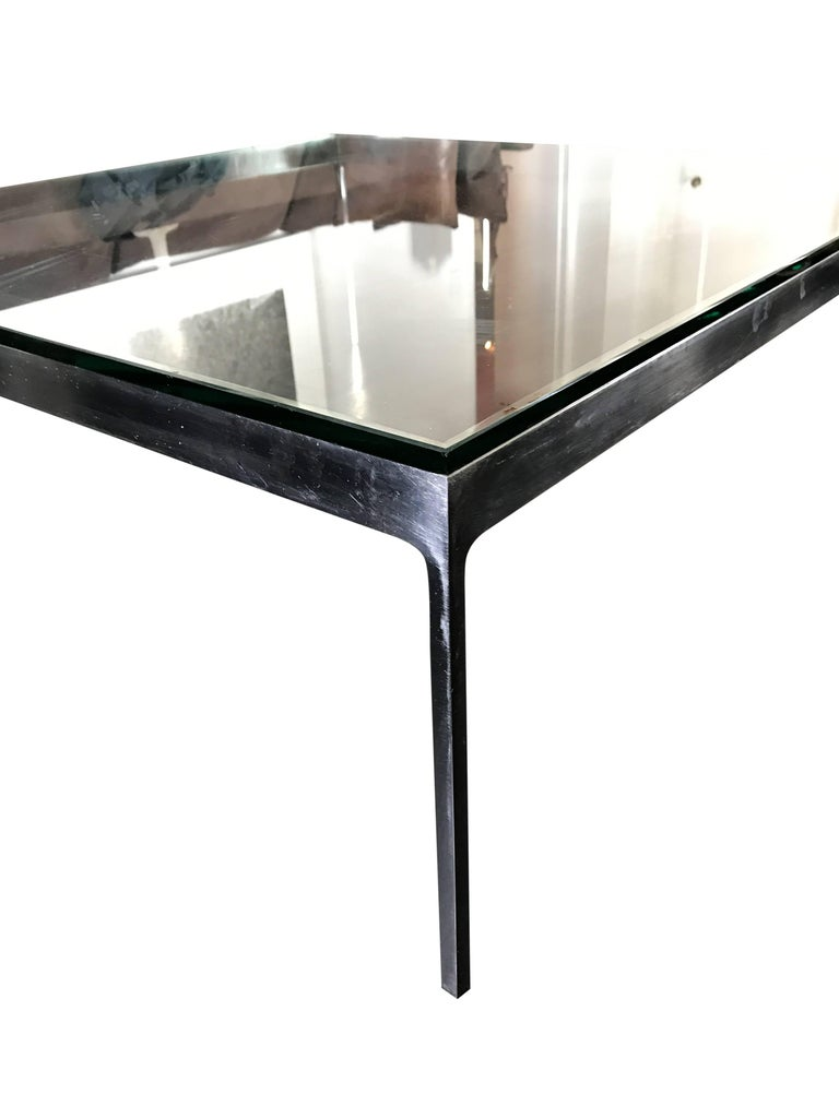 American Large Square Cocktail Table by Nicos Zographos For Sale