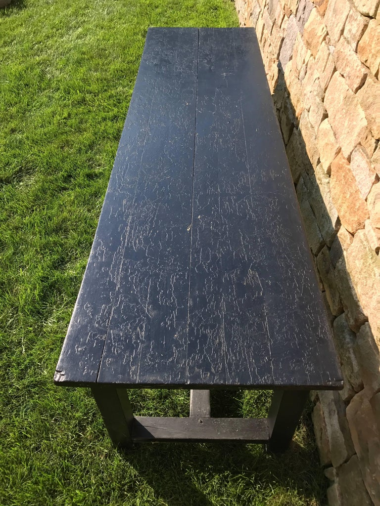 Extra long 19th century painted farm table for sale at 1stdibs for Extra long farmhouse table