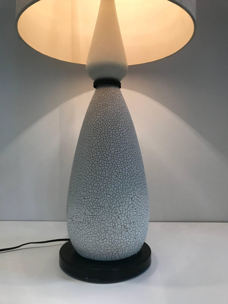 Pair of Mid-Century Ceramic Table Lamps For Sale 1