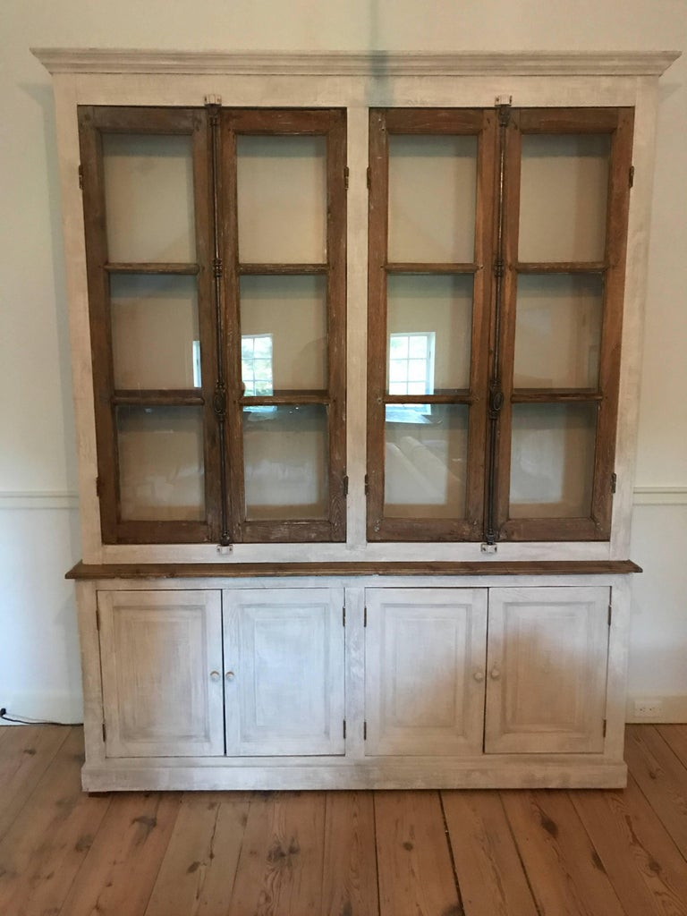 Large French Cabinet or Bookcase In Excellent Condition For Sale In Stockton, NJ