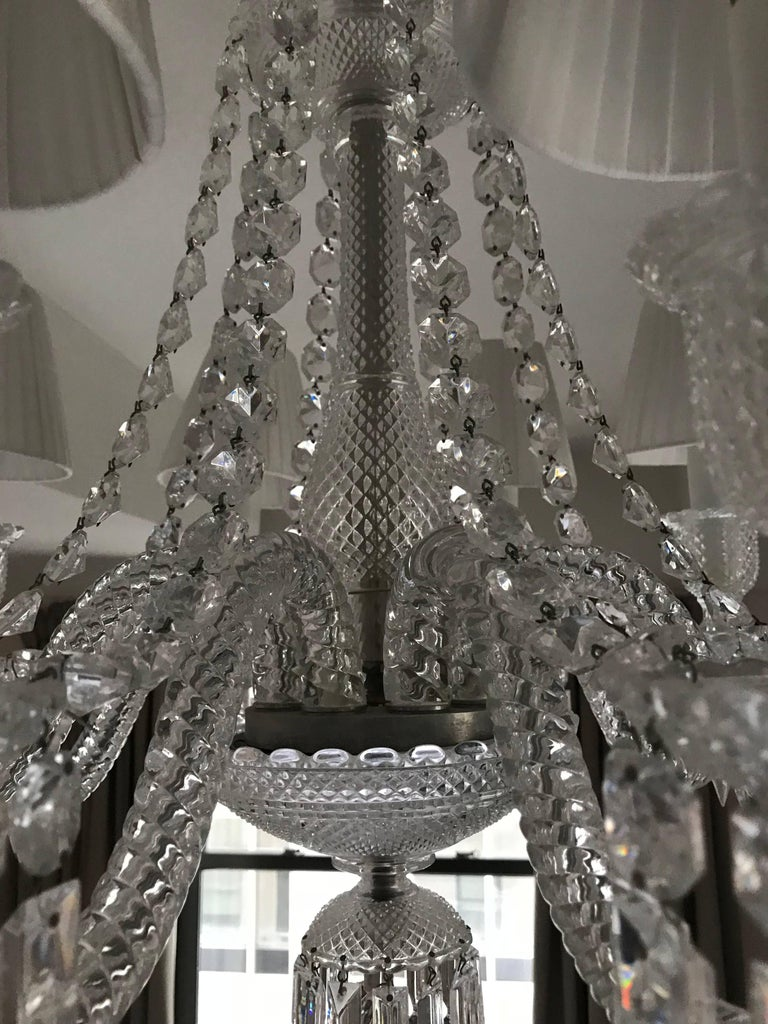 Baccarat Zenith Eight Light Chandelier For Sale At 1stdibs