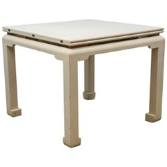 Expandable Game or Dining Table, style Karl Springer, 1970s