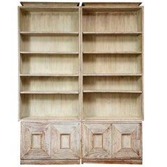 Rare and Exceptional Pair of James Mont Étagères/Bookcases, 1940s