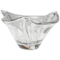Elegant Daum Crystal Bowl, Modern/Transitional Style